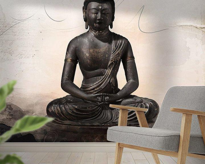 Sfeerimpressie behang: Boeddha van Studio Papilio