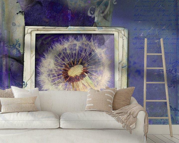 Sfeerimpressie behang: Beauty is everywhere - paardenbloem van Studio Papilio