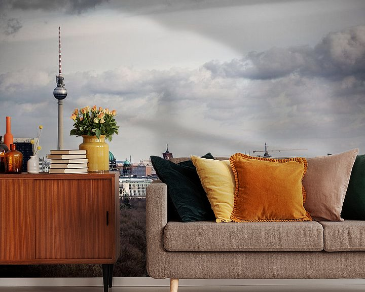 Sfeerimpressie behang: Oost Berlijn van Leon Weggelaar