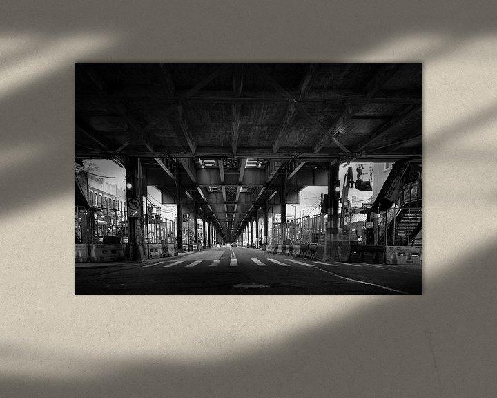 Beispiel: 31st street crossing, Astoria, Queens , New York von Marga Verweijen