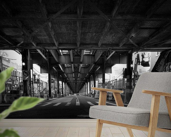 Beispiel fototapete: 31st street crossing, Astoria, Queens , New York von Marga Verweijen