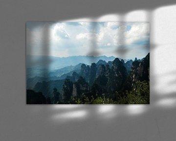 Uitzicht over de Avatar mountains van Zoe Vondenhoff