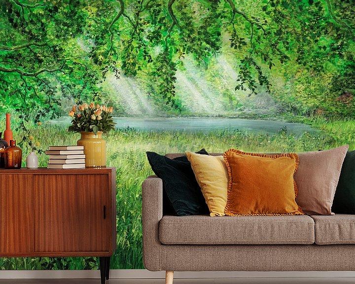 Sfeerimpressie behang: 'Natural Umbrella' van Silvian Sternhagel