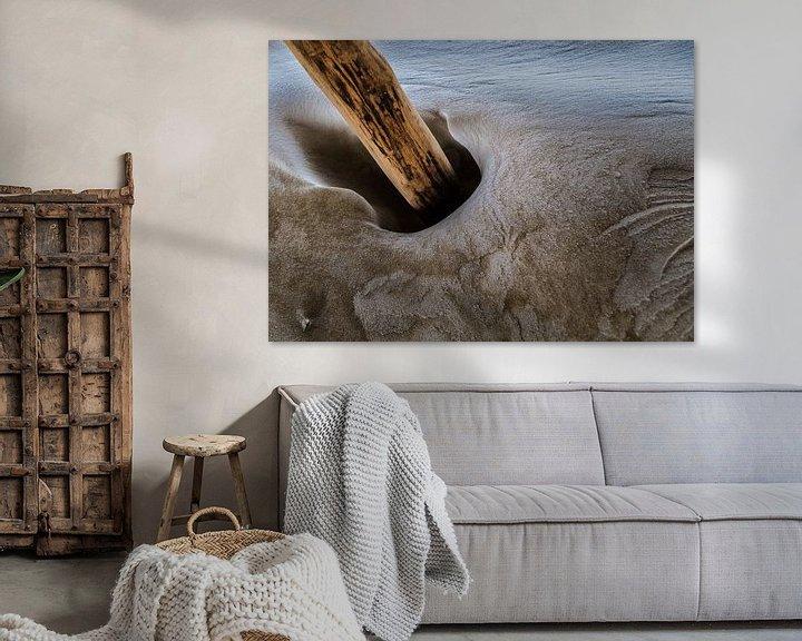 Sfeerimpressie: Dansende zandpaal van Ton C Kroon