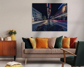 Lichtstralen in Leeuwarden von Marco Zeer