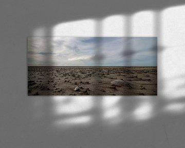 Rottumeroog - het strand valt droog van Studio de Waay