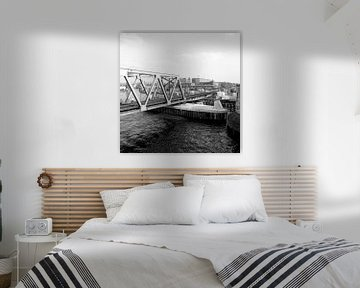 Dordrecht aanleg nieuwe Spoorbrug von Dordrecht van Vroeger