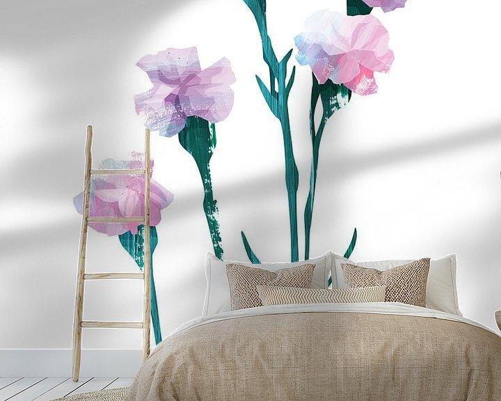 Sfeerimpressie behang: Flower Power #3 van Goed Blauw