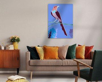 Paarse Vogel van Goed Blauw