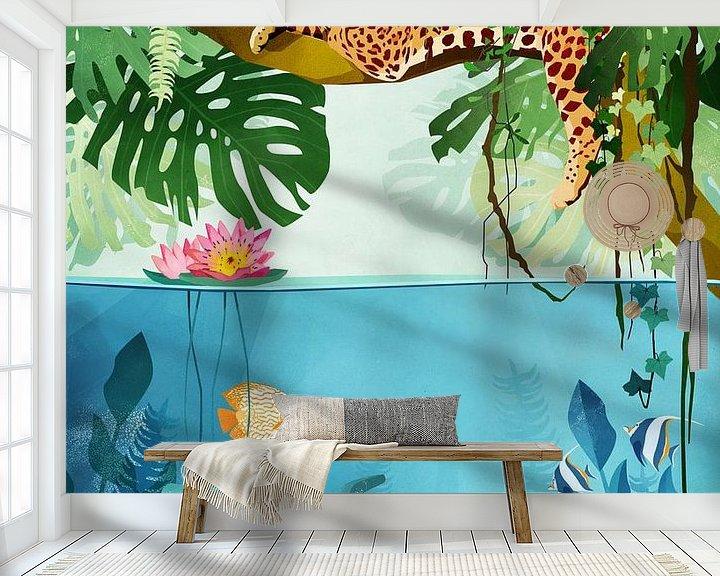 Beispiel fototapete: Welcome to the Jungle von Goed Blauw