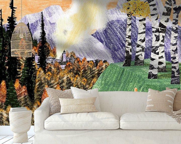 Sfeerimpressie behang: Tuutaa van Goed Blauw