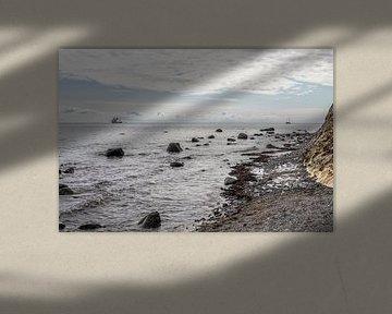 Driemaster voor de kust van Denemarken sur Hanneke Luit