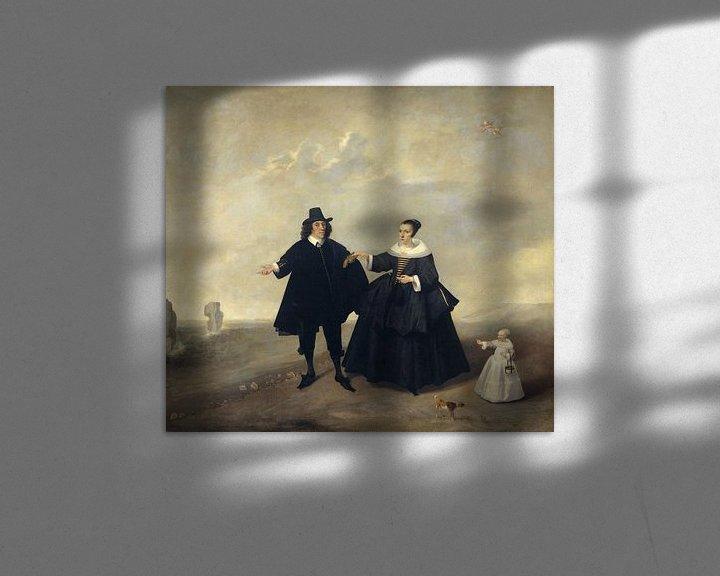 Sfeerimpressie: Portret van een echtpaar met kind, leden van de familie van Beresteyn