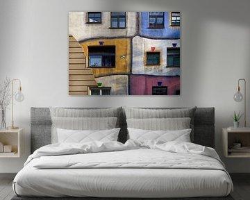 Hundertwasser Haus Fassade von Maurits van Hout