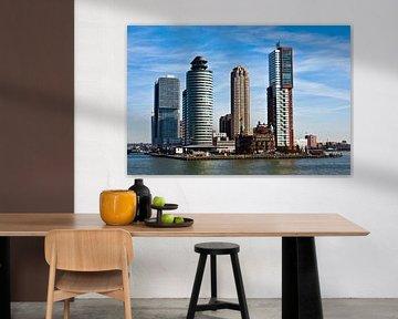 Skyline mit New York Hotel am Rotterdamer Hafen von Silva Wischeropp