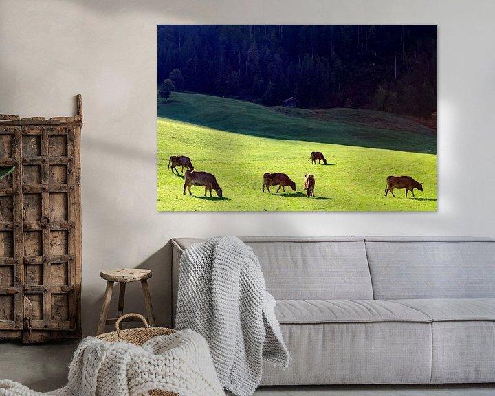 Beispiel: Grazende koeien in het Kleinwalsertal (A) von Ludo Verhoeven