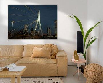 Erasmusbrug Rotterdam met skyline von Brian Morgan