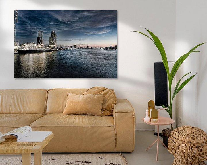Sfeerimpressie: Rotterdam Skyline in HDR van Brian Morgan