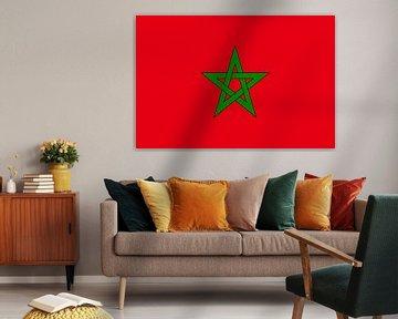 Marokkaanse vlag van De Vlaggenshop