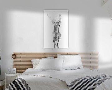 Hert (zwart wit) von Goed Blauw