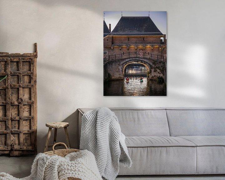 Sfeerimpressie: De koppelpoort is een stadspoort in Amersfoort van Ton Tolboom