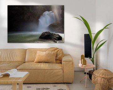 Sunbeam waterfall