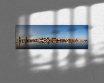 Kampen skyline panorama #1 van Edwin Mooijaart