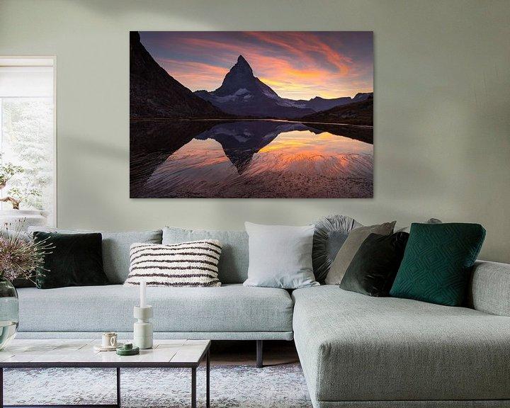 Sfeerimpressie: Matterhorn  Sunset van Sander van der Werf