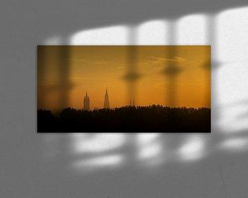 Lever du soleil sur Delft