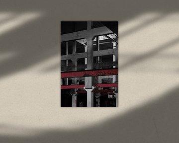 veertig jaar leeg monochroom no.1 van Robin Veenink