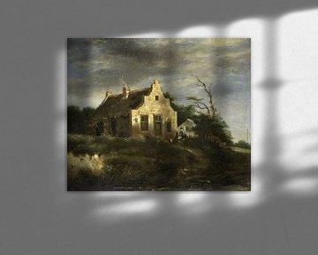 Bauernhaus in waldiger Dünenlandschaft, Jacob Isaacksz. van Ruisdael