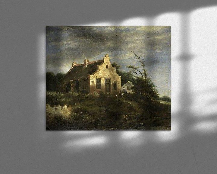 Beispiel: Bauernhaus in waldiger Dünenlandschaft, Jacob Isaacksz. van Ruisdael