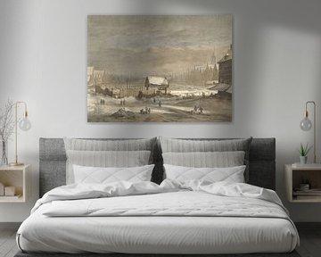 Der Damrak im Winter, Hendrik Pothoven