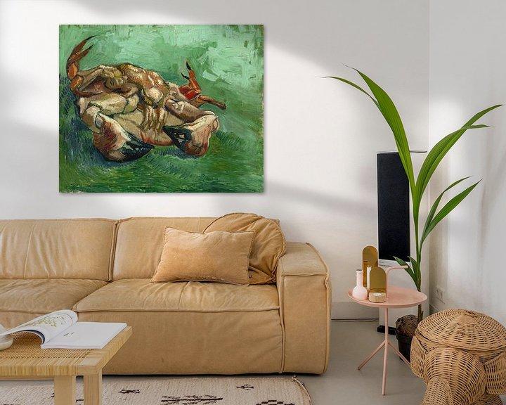 Beispiel: Eine Krabbe, auf dem Rücken liegend, Vincent van Gogh