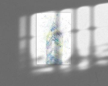 Modern Art BIG BEN | Aquarell Pastell von Melanie Viola
