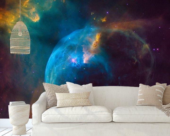 Sfeerimpressie behang: Hubble ruimtetelescoop foto,s van NASA van Brian Morgan