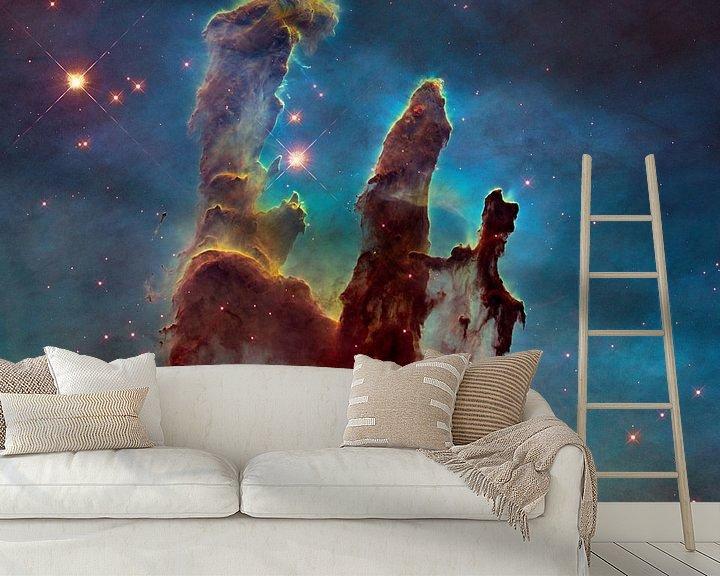 Sfeerimpressie behang: Hubble telescoop ruimte foto,s van NASA van Brian Morgan