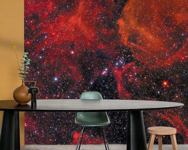Sfeerimpressie behang: Hubble telescoop ruimte foto van NASA van Brian Morgan