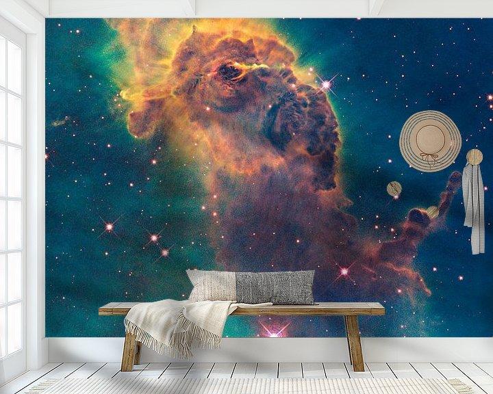 Sfeerimpressie behang: NASA Hubble ruimtetelescoop foto van de ruimte van Brian Morgan
