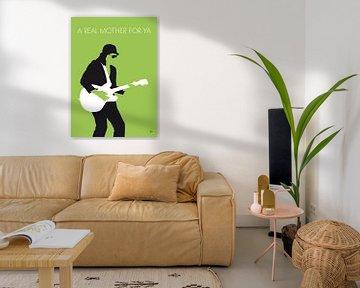 No106 MY JOHNNY GUITAR WATSON Minimal Music poster van Chungkong Art