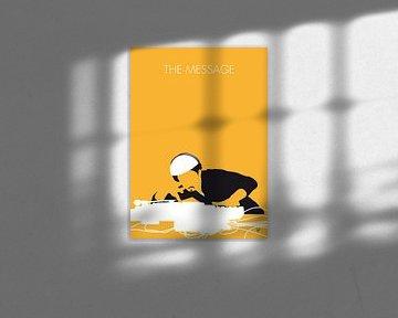 No114 MY Grandmaster Flash Minimal Music poster von Chungkong Art