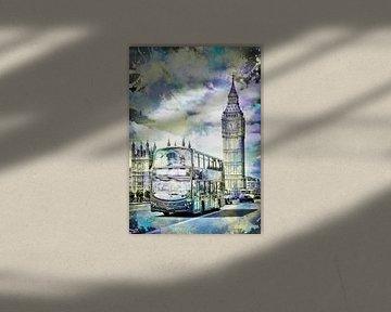 Moderne Kunst LONDON street scene van Melanie Viola
