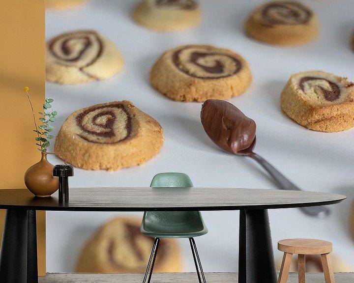 Sfeerimpressie behang: Chocolade swirl koekjes van Martijn Koevoets