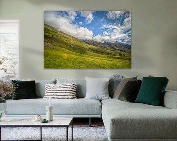 Zicht op de bergen in Glen Coe