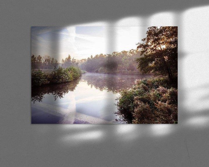 Sfeerimpressie: Twiske met water en mist van Jaap Mulder