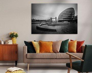 City Hall en Tower Bridge von Ronne Vinkx