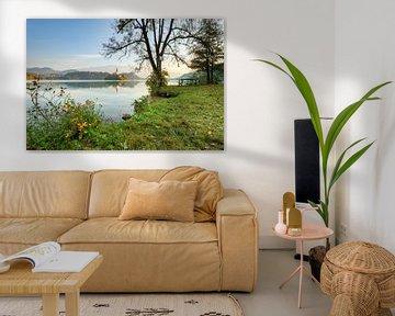 Ochtend aan het Bled-meer van Michael Valjak