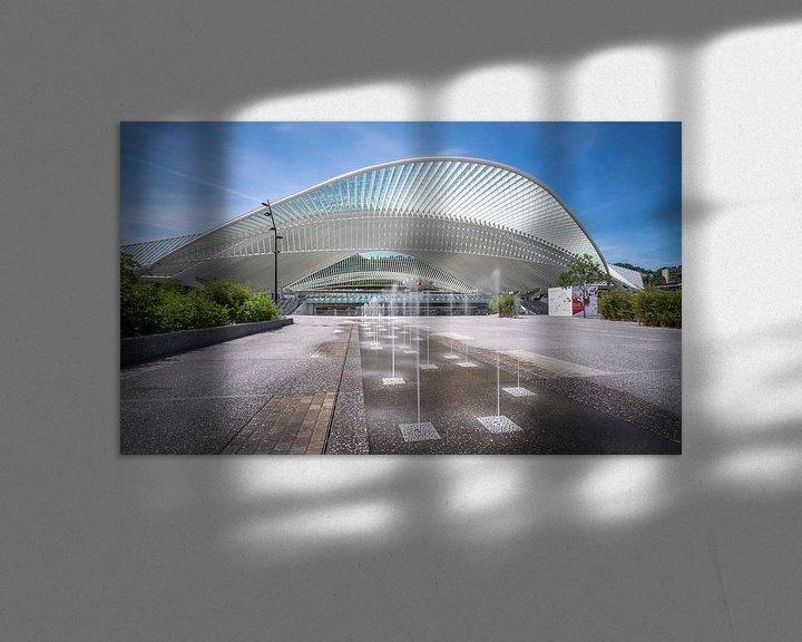 Sfeerimpressie: Station Luik-Guillemins van Huub Keulers