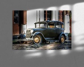 Klassieke A-Ford in de straat Uruguay