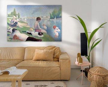 Badestelle in Asnières, Georges Seurat